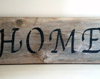 Hand Painted Rustic Wood Signs For Interior Decor - Home, Family, Love.  Customize Your Sign - Rustic Nursery Decor