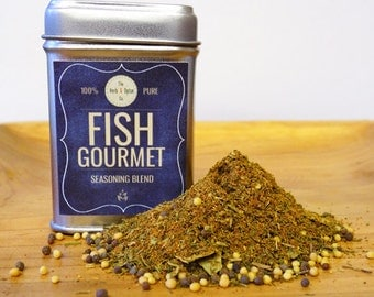 Fish Gourmet Seasoning Blend Tin *SUGAR FREE*