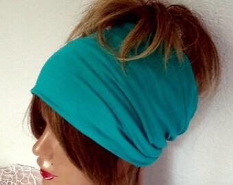 Turquoise Headband, Cotton Headband, Boho Scarf, Headband, Bandana Band, Yoga Band, Women's Accessories, Hair Wrap, !!! FREE SHIPPING !!!