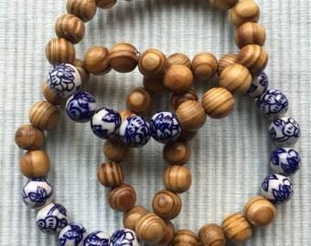 Sandalwood & China bracelet
