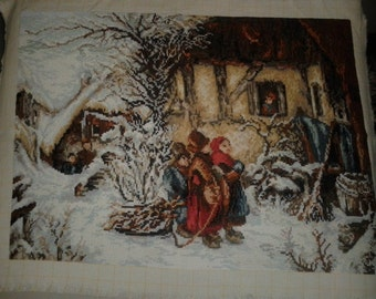 "Wall Tapestry ""Winter Idyll"""