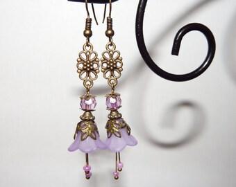 Victorian Style Flower Earrings