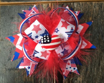 6 inch 4th of July bow