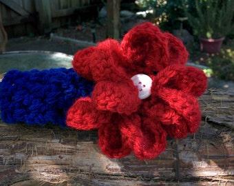 Collegiate color headbands with flower