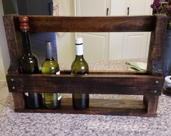 Rustic Wine Rack made entirely from reclaimed pallet wood