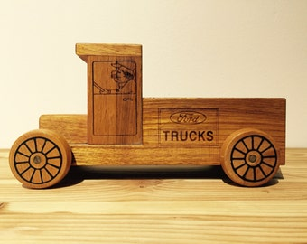Wood FORD Toy Truck