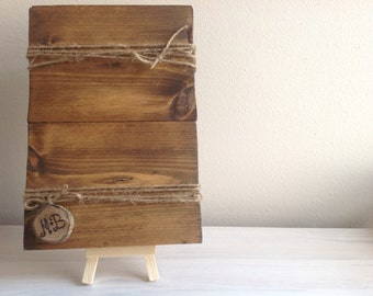 Reclaimed wood picture frame