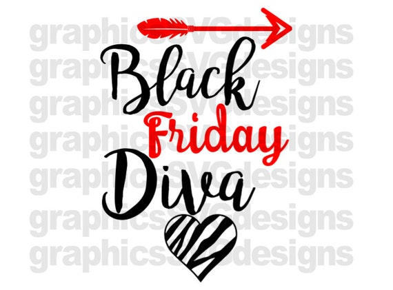 Black Friday Diva Svg File For Cricut And Cameo Dxf For