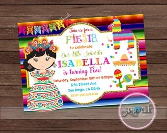 Fiesta Party Invitation, Fiesta Birthday Invitation, Fiesta Birthday Party Invitation, Fiesta Mexicana Invitation, Mexican Fiesta