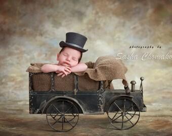 Digital backdrop background vintage track newborn by boy brown