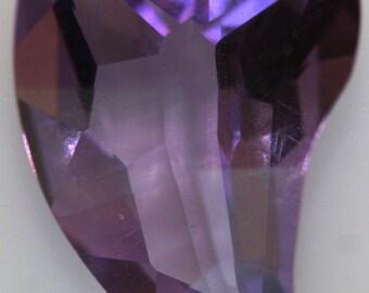 Amethyst Purple Gemstone 2.39cts Wavy Heart g2460 One-of-Kind Loose Faceted Gemstone Jewelry Making Semi Precious Gem