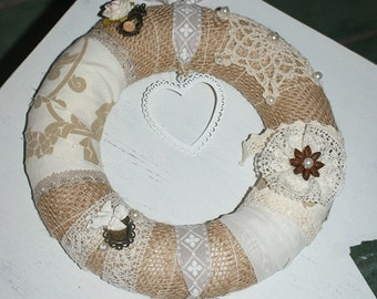 Door wreath wreath Shabby Chic (2)