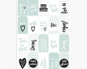Printable / Gift Tags / Grün