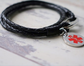 Medical Alert Bracelet - Type 1 Diabetic - Diabetes Bracelet - Medical Bracelet