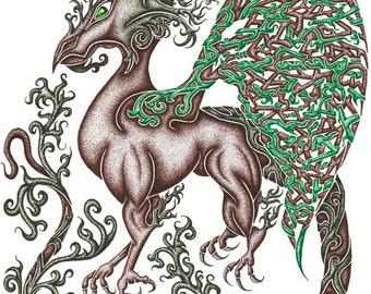 Earth Elemental Stipple Dragon