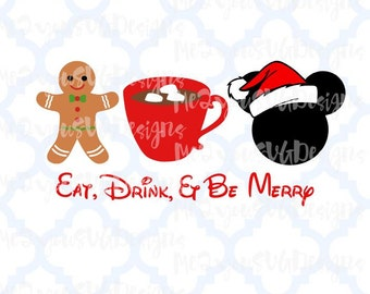 Eat Drink and Be Merry SVG,EPS,PNG,Studio