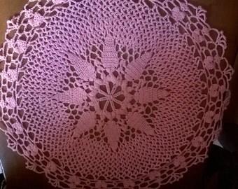 Crochet lace pink