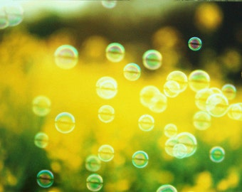 Floating Bubbles Photography, Nursery Decor, Baby's Bathroom Wall Decor,  Kids Bathroom Decor, Bubble Picture,Bubble Wall Art.