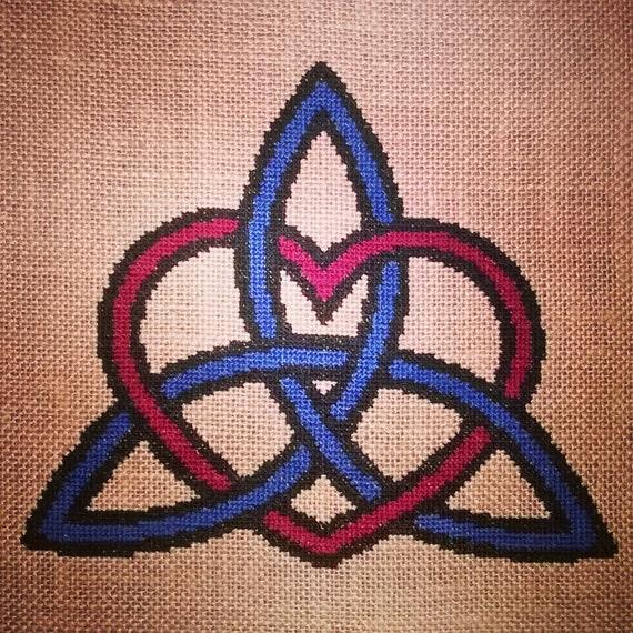 Celtic Trinity Knot Knitting Pattern : Large Celtic Love Heart Trinity Knot Symbol Design [Cross Stitch] **Download ...