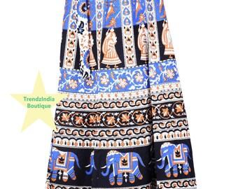 Indian Hand Made Traditional Wrap Around Skirt Bagru Print
