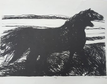 Horses- lithograph