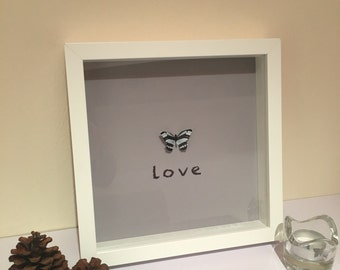 Handmade 3D butterfly frame