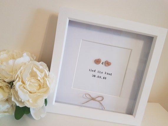 The Knot Wedding Gifts: Mr & Mrs Tied The Knot, Wedding Gift, Wedding Frame, Home