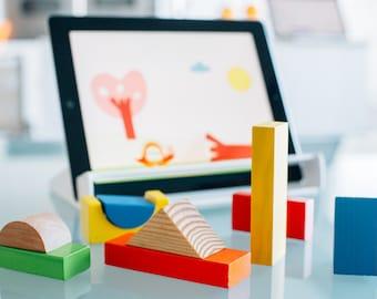 Magik Play Starter Kit | Smart Wood Toys to play with iPad Educational Games | Improve Creativity, motor-skills |STEM | Montessori | Waldorf