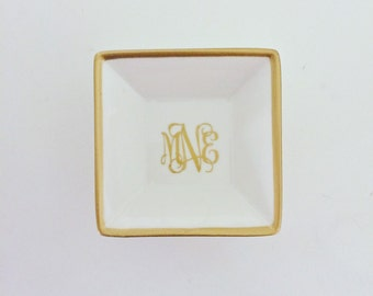 Monogram Jewelry Dish | Personalized Jewelry Dish | Monogram Ring Dish | Personalized Ring Dish | Engagement Gift | Gift for Her