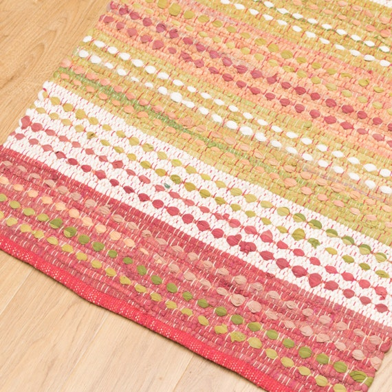 Rag Rug 60x90cm Indian Traditional Cotton Chindi Braided Soft
