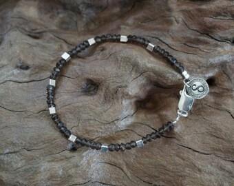 Smoky Quartz silver bracelet-Sugati 130