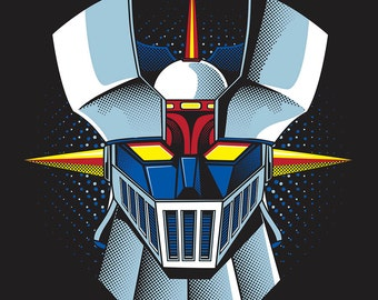 Mazinger Z, poster, digital download, instant download, illustration, manga, anime, マジンガーZ
