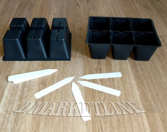 Seedling Seed Starter Tray Inserts 150 Large Cells + 20 Plastic Labels, Own Garden