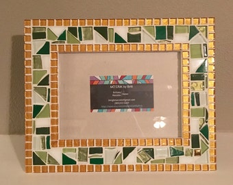 Custom mosaic picture frame