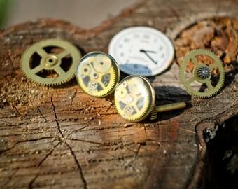 Steampunk earrings.