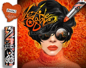 Burnt Orange Lipstick by Lex Gable Cosmetix High Pigment Shade: 'Shag'