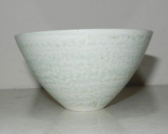 Tiny Conical Pale Blue Wood-ash glazed Porcelain Bowl