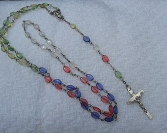 Vintage Colorful Rosary