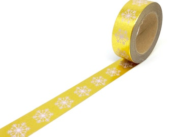Gold foil snowflake washi tape