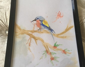 Bird watercolour art