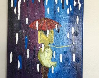 City Walk Girl in the Rain