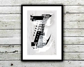 Typography: Number 7 Poster