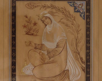 Original persian painting (The Girl)