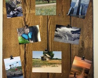 Picture Board, Photo Board, memory board, Wooden decor, Picture collage, picture frame, farmhouse decor, collage picture frame