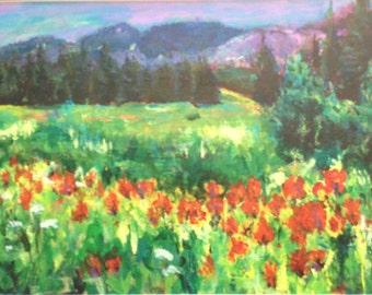Meadow in Red