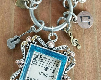 Blessed music charm necklace