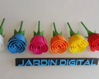 Rose printed in 3D