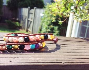 Color Burst Double Wrap Bracelet