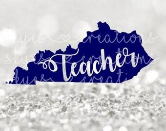 Kentucky, ky, Teacher svg