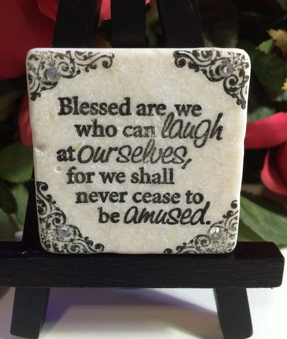 Whoarewe: Blessed Are We Who Can Laugh At Ourselves Clear Rhinestone